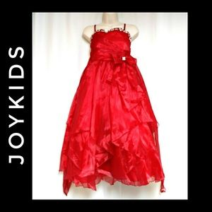 Joykids Special Occasion Organza Dress Red Size 10